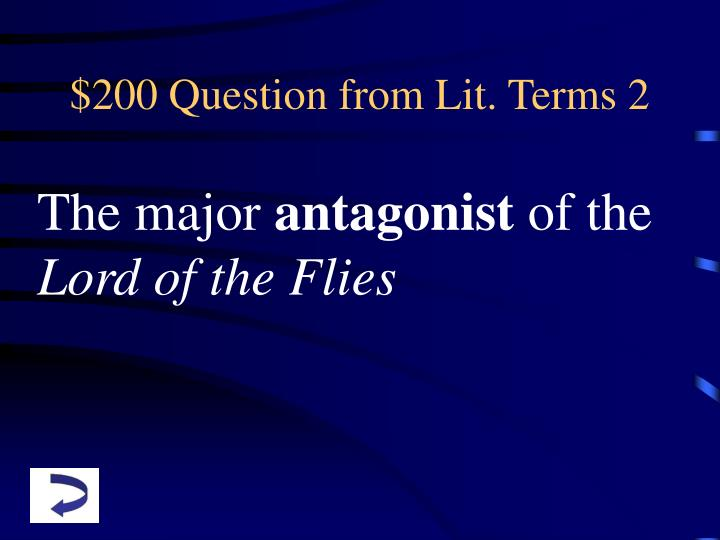 $200 Question from Lit. Terms 2