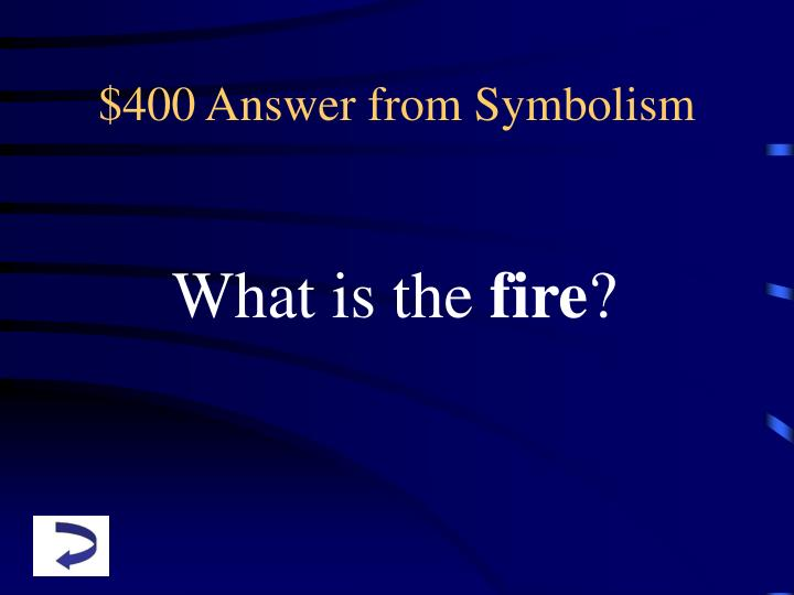 $400 Answer from Symbolism