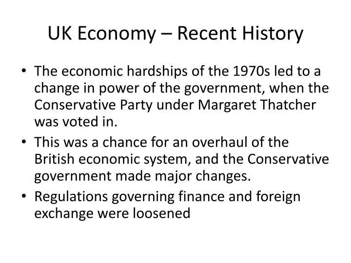 UK Economy – Recent History