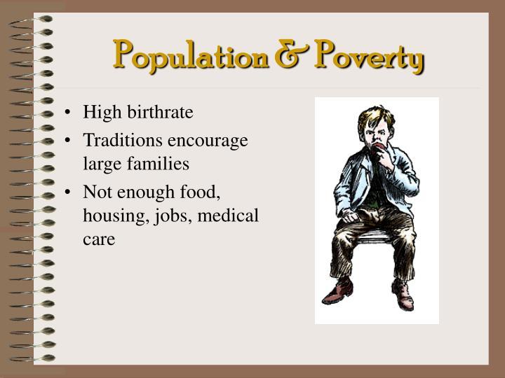 Population & Poverty