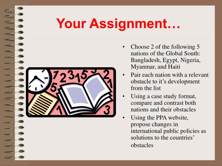 Your Assignment…