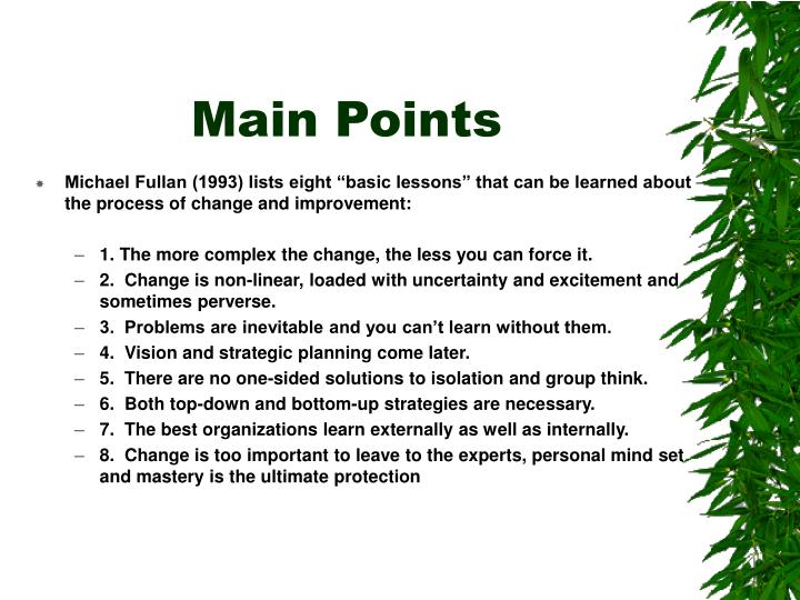 Main Points