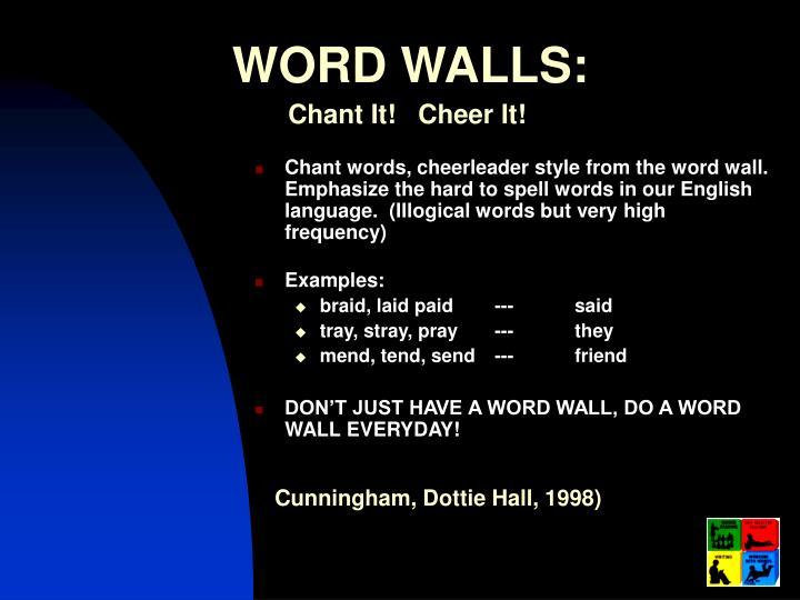 WORD WALLS: