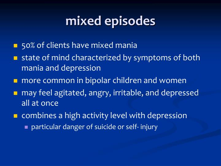 mixed episodes
