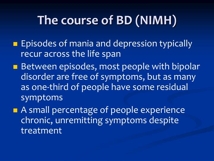 The course of BD (NIMH)