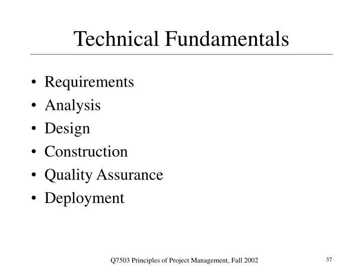 Technical Fundamentals