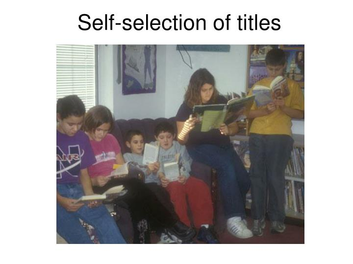 Self-selection of titles
