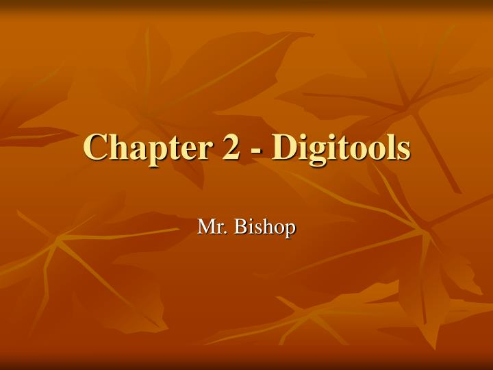 Chapter 2 digitools