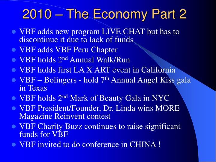 2010 – The Economy Part 2