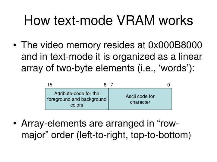 How text-mode VRAM works