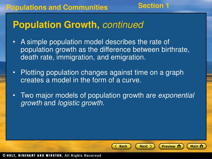 Population Growth,