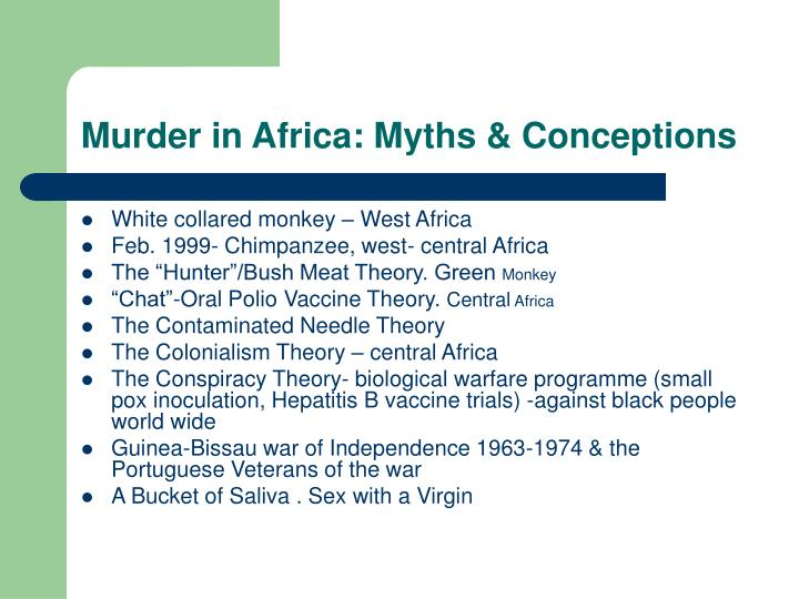 Murder in Africa: Myths & Conceptions
