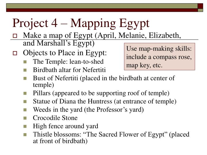Project 4 – Mapping Egypt