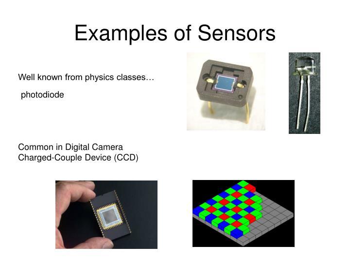 Examples of Sensors