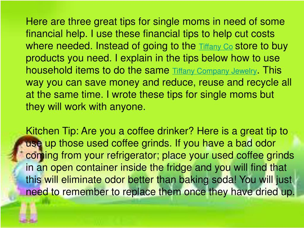 Here are three great tips for single moms in need of some financial help. I use these financial tips to help cut costs where needed. Instead of going to the
