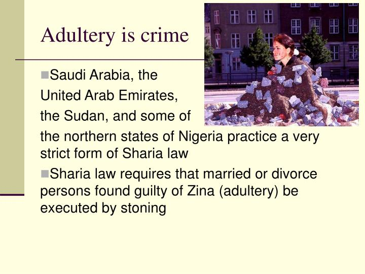 Adultery is crime