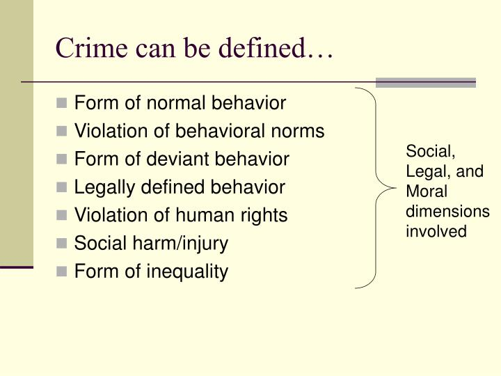 Crime can be defined…