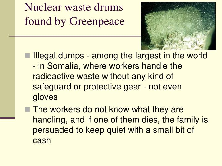 Nuclear waste drums