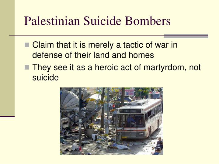 Palestinian Suicide Bombers
