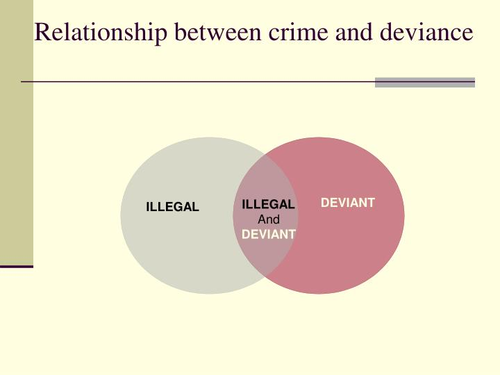 Relationship between crime and deviance