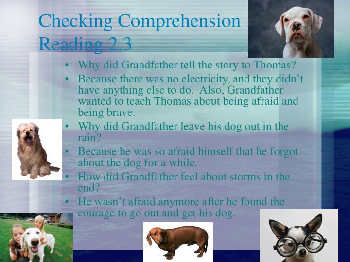 Checking Comprehension