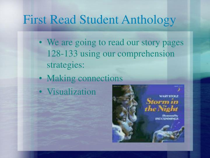 First Read Student Anthology