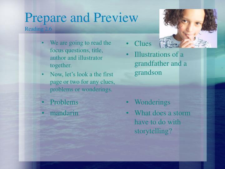 Prepare and Preview