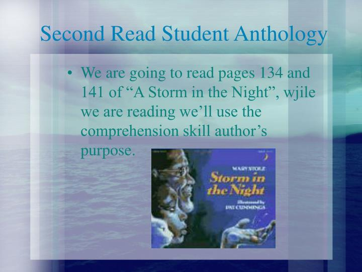 Second Read Student Anthology