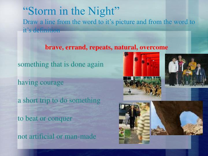 """""""Storm in the Night"""""""
