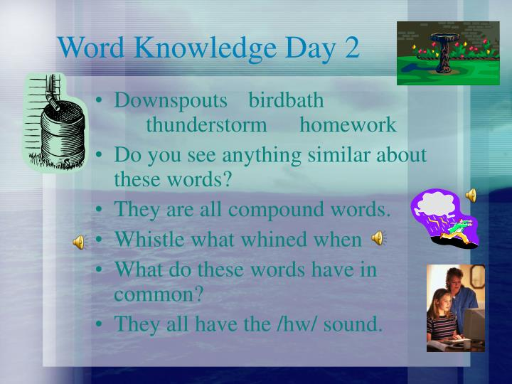 Word Knowledge Day 2