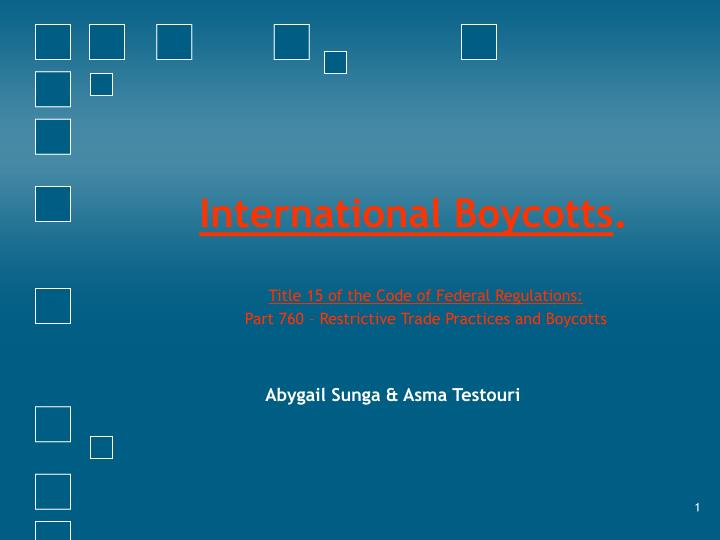 international boycotts