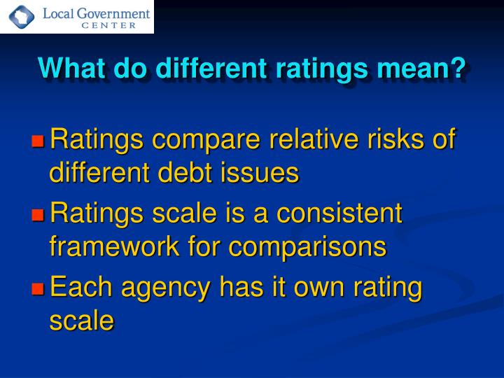 What do different ratings mean?