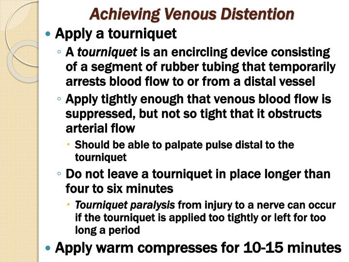 Achieving Venous Distention