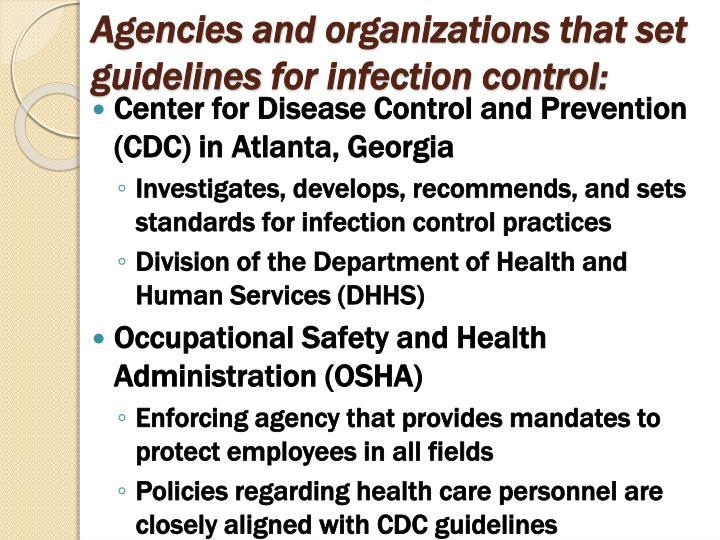 Agencies and