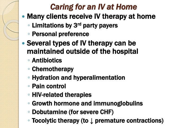 Caring for an IV at Home