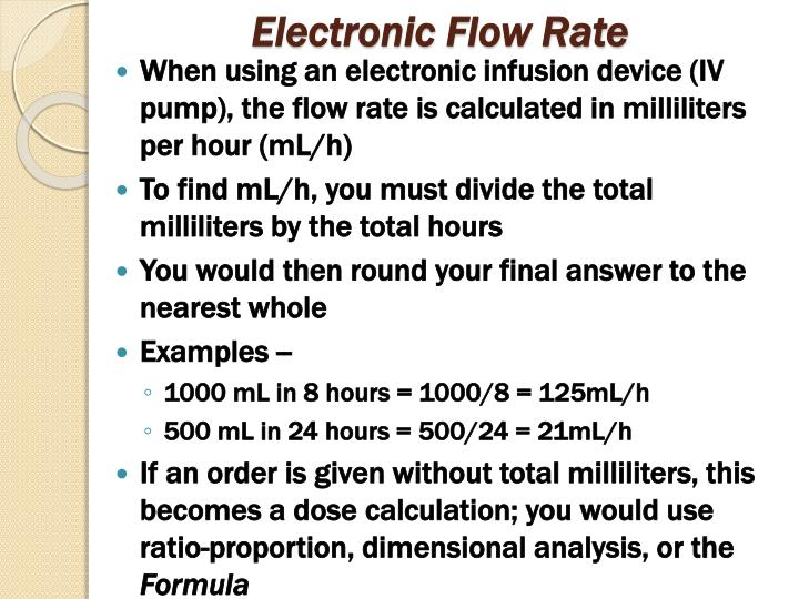 Electronic Flow Rate