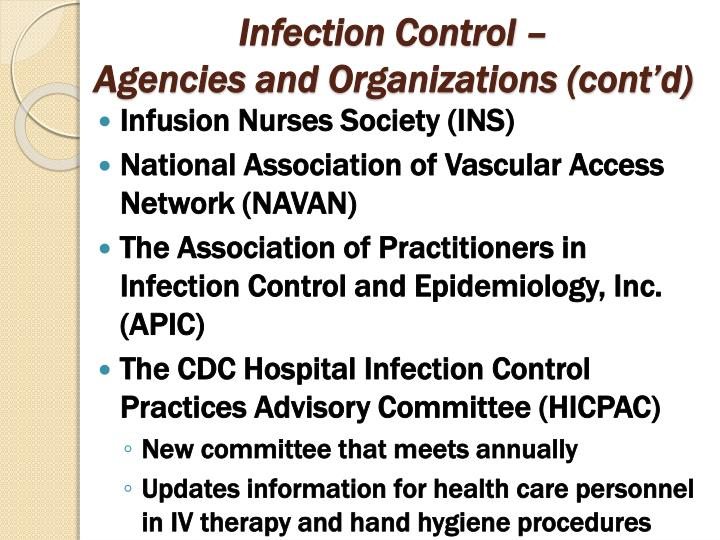 Infection Control –