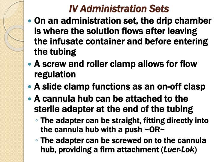 IV Administration Sets