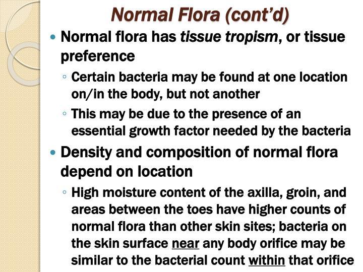 Normal Flora (cont'd)