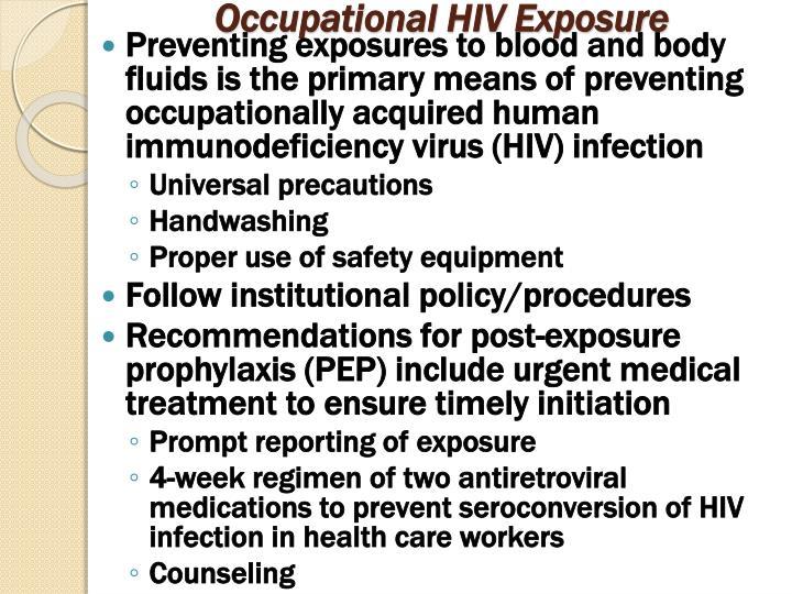 Occupational HIV Exposure