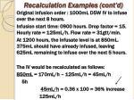 recalculation examples cont d