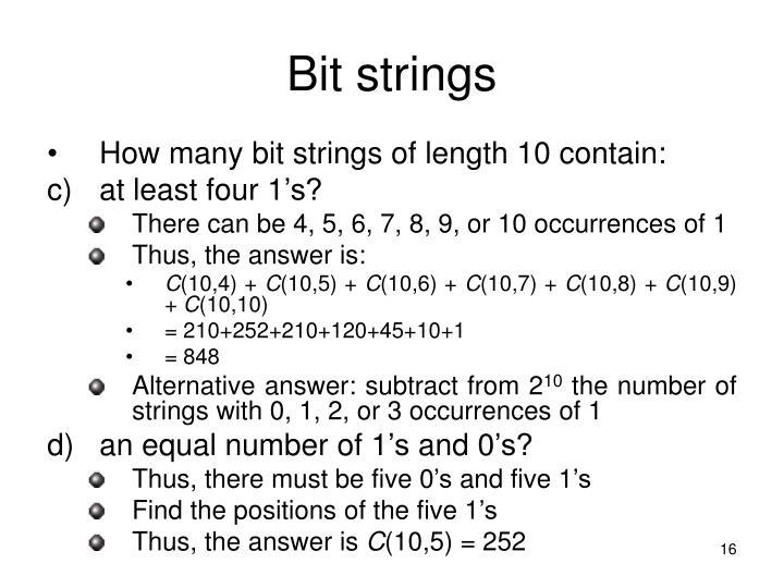 Bit strings