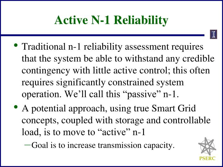Active N-1 Reliability