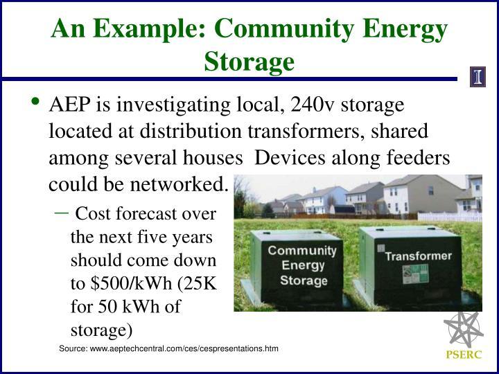 An Example: Community Energy Storage