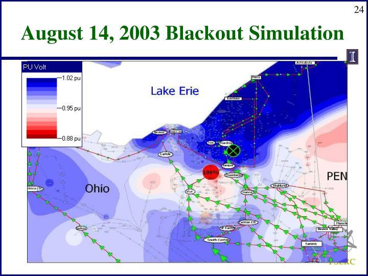 August 14, 2003 Blackout Simulation
