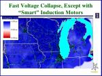 fast voltage collapse except with smart induction motors