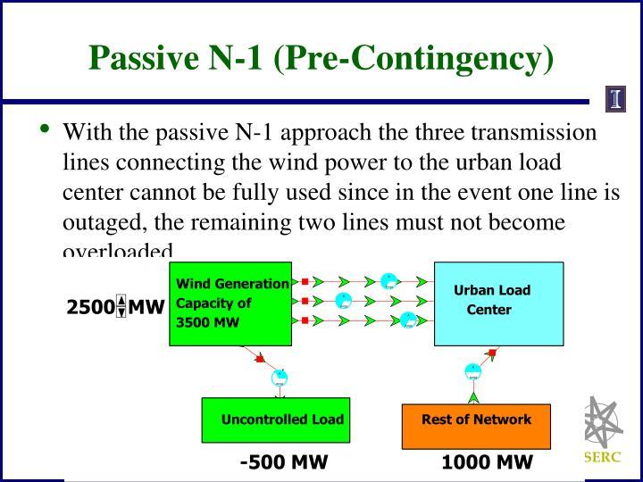 Passive N-1 (Pre-Contingency)