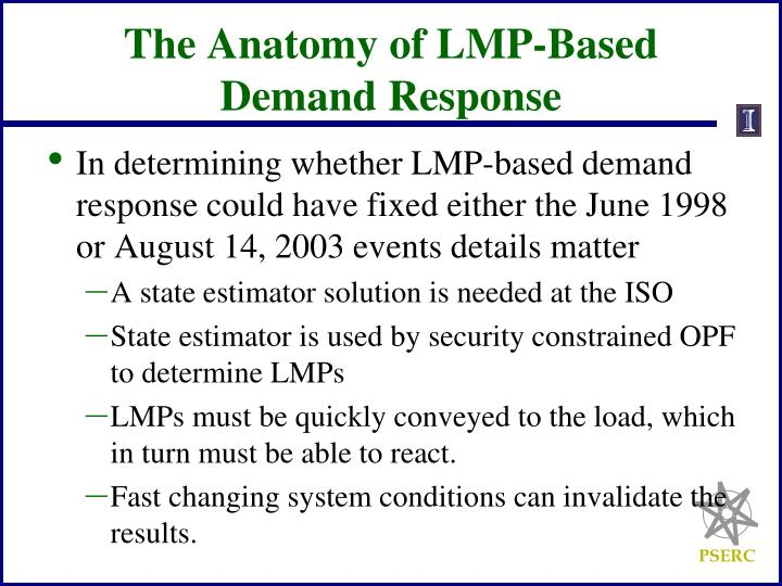 The Anatomy of LMP-Based