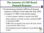 the anatomy of lmp based demand response