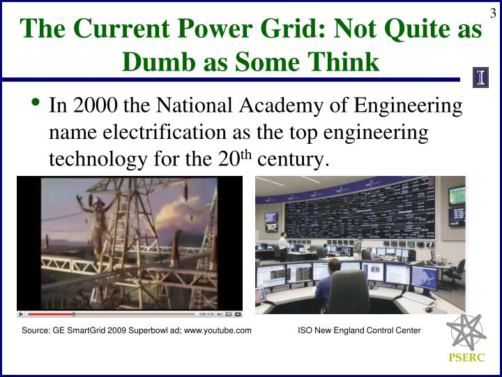 The Current Power Grid: Not Quite as Dumb as Some Think